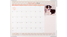 2016 Recycled Puppies Monthly Desk Pad (DMD166_16) (Item # DMD166_16)