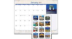 2017 European Destinations Monthly Desk Pad (DMD169_17) (Item # DMD169_17)