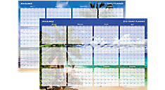2016 Tropical Escape 2-Sided Horizontal Erasable Wall Calendar (DMWTEE_16) (Item # DMWTEE_16)