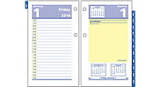 2016 QuickNotes® Recycled Daily Desk Calendar Refill (E51750_16) (Item # E51750_16)
