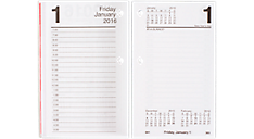 2016 Daily Desk Calendar Refill with Monthly Tabs (E717T50_16) (Item # E717T50_16)