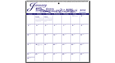 2016 Recycled Illustrator's Edition 12-Month Calendar (G1000_16) (Item # G1000_16)