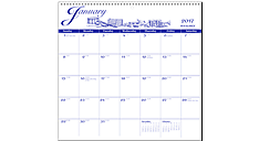 2017 Illustrator's Edition Monthly Wall Calendar (G1000_17) (Item # G1000_17)