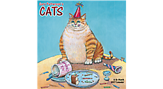 2017 Gary Patterson's Cats Wall Calendar (HTH102_17) (Item # HTH102_17)