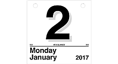 2017 Today Is Daily Wall Calendar Refill for K1 (K150_17) (Item # K150_17)