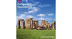 2017 European Destinations Wall Calendar (LME218_17) (Item # LME218_17)