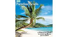 2017 Paradise Bilingual (French-English) Wall Calendar (LMF178_17) (Item # LMF178_17)