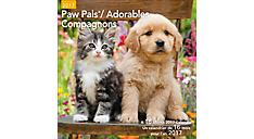 2017 Paw Pals Bilingual (French-English) Wall Calendar (LMF226_17) (Item # LMF226_17)