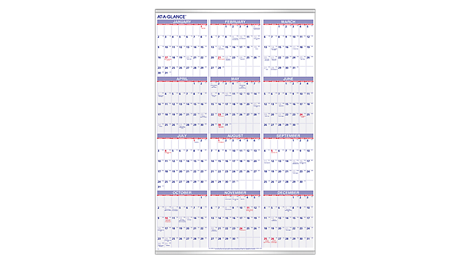 Back to School 2015 Prep: AT-A-GLANCE® 2016 Recycled Yearly Wall Calendar