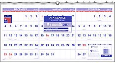 2017 Three-Month Horizontal Wall Calendar (PM14_17) (Item # PM14_17)