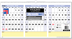 2017 QuickNotes 3-Month Horizontal Wall Calendar (PM15_17) (Item # PM15_17)