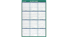2016 Vertical Erasable Wall Calendar (PM210_16) (Item # PM210_16)