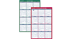 2-Sided Vertical Erasable Wall Calendar (PM210S) (Item # PM210S)