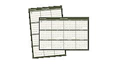 2016 Recycled Vertical/Horizontal Wall Calendar (PM212G_16) (Item # PM212G_16)