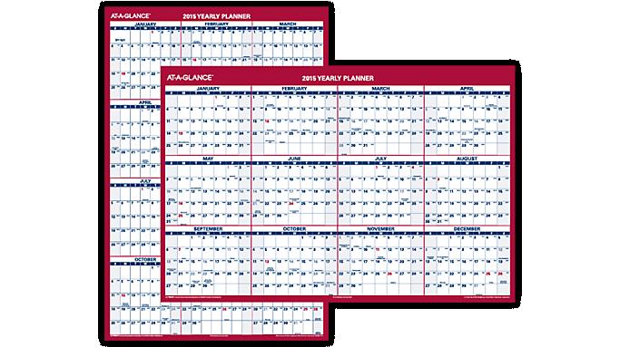 ... GLANCE® 2016 Vertical/Horizontal Erasable Wall Calendar (PM326P_16