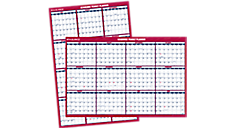 2015-2016 XL 2-Sided Academic Erasable Wall Calendar (PM36AP_16) (Item # PM36AP_16)