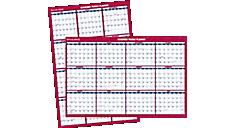 2015-2016 XL 2-Sided Academic Erasable Wall Calendar (PM36AP_16) (Item # PM36AP_16)