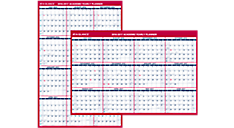 2016 - 2017 XL 2-Sided Academic Erasable Wall Calendar (PM36AP_17) (Item # PM36AP_17)