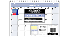 2017 QuickNotes® Monthly Wall Calendar (PM50_17) (Item # PM50_17)
