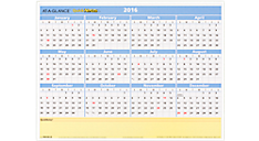 2016 QuickNotes® Compact Erasable Wall Calendar (PM550B_16) (Item # PM550B_16)