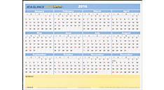 2016 QuickNotes® Compact Erasable Wall Calendar (PM550B_16) (Item # PM550B_16)