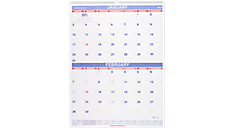 2016 Recycled 2 Month Wall Calendar (PM9_16) (Item # PM9_16)
