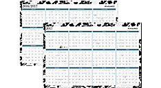 Madrid 2-Sided 18 Monthly Erasable Wall Calendar (PM93-550P) (Item # PM93-550P)