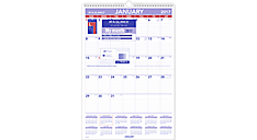 2017 Laminated Monthly Wall Calendar (PMLM03_17) (Item # PMLM03_17)