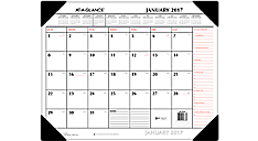 2017 Two-Color Monthly Desk Pad (SK1170_17) (Item # SK1170_17)