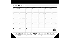 2017 Refillable Monthly Desk Pad (SK22_17) (Item # SK22_17)