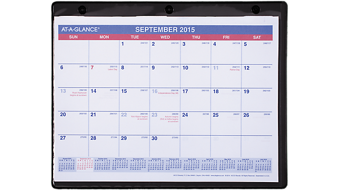 Academic Monthly Desk Wall Calendar Sk7 At A Glance At A Glance
