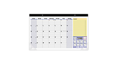 2015-2016 QuickNotes® Compact Academic Monthly Desk Pad (SK726_16) (Item # SK726_16)