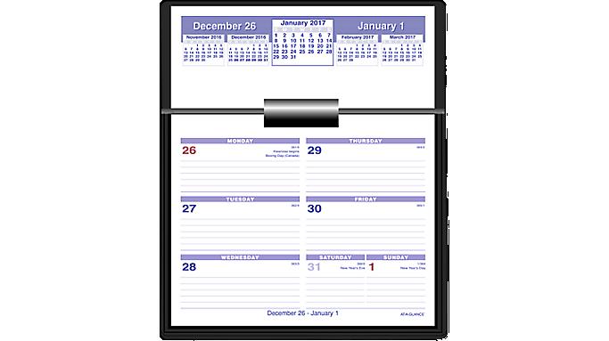 At A Glance 2017 Flip A Week Desk Calendar And Base