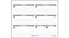 2017 Flip-A-Week® Desk Calendar Refill (SW705X_17) (Item # SW705X_17)