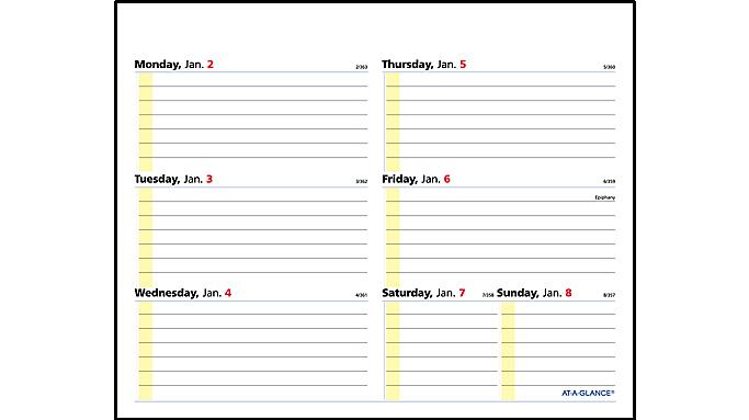 At A Glance 2017 Quicknotes Flip A Week Desk Calendar