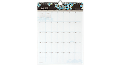 2015 - 2016 Branches and Blooms Vertical Academic Wall Calendar (W147-1A_16) (Item # W147-1A_16)
