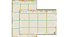 2015 - 2016 Garden Party Academic Erasable Wall Calendar (W150-550A_16) (Item # W150-550A_16)
