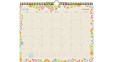 2016 - 2017 Garden Party Academic Wall Calendar (W150-707A_17) (Item # W150-707A_17)